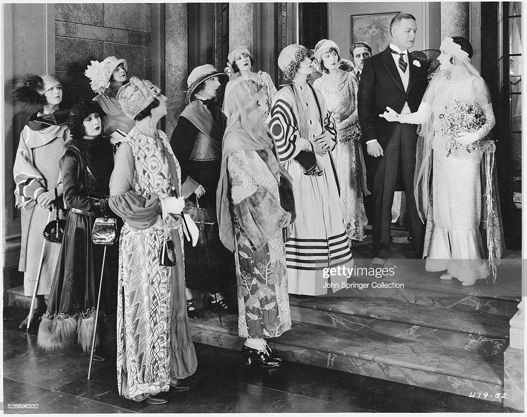Scene from Silent Film Bluebeard's Eighth Wife : News Photo