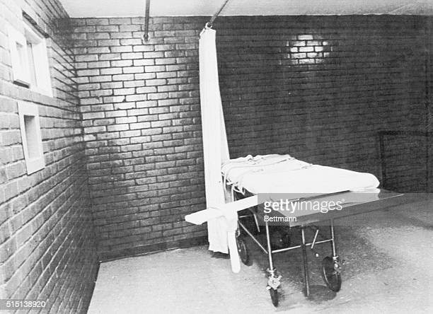 This is a file photo of the death chamber at the Texas Department of Corrections similar to the one used early Tuesday for the execution of inmate...