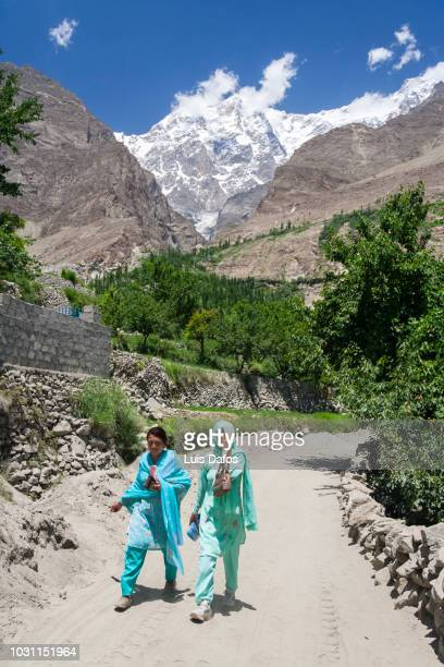 hunza valley women - dafos stock photos and pictures