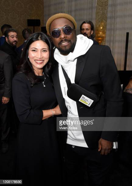 Huong Speeks and william attend the MercedesBenz Academy Awards Viewing Party at The Four Seasons Hotel Los Angeles at Beverly Hills on February 09...