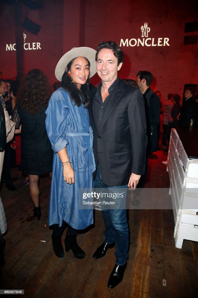 Huong Vu and Martin Bachmann attend the Moncler X Stylebop.com launch event at the Musikbrauerei on October 11, 2017 in Berlin, Germany.