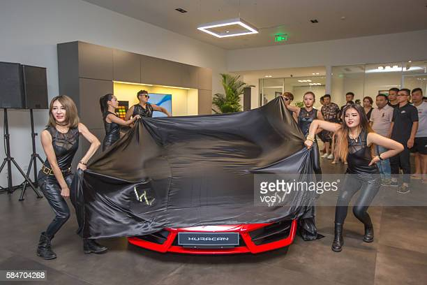 Huracan RWD is to be unveiled at a opening ceremony as Automobili Lamborghini opens the second exhibition hall which's also a largest one in China on...