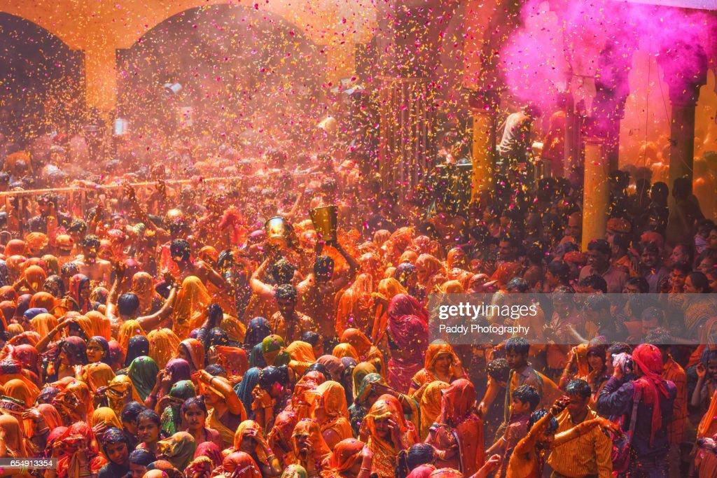 Huranga Holi Baldeo Temple Mathura Stock Photo - Getty Images