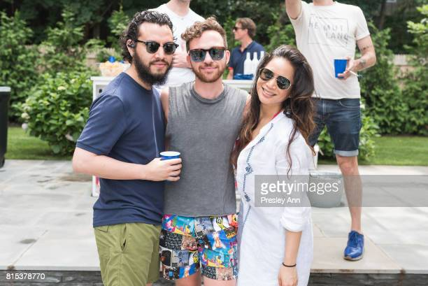 Hurbert Alvaro Cory Harrison and Marie Gloria attends The Daily Summer's 3rd annual Boys of Summer Party on July 15 2017 in Sag Harbor New York