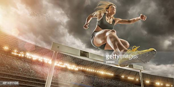 Hurdler in Extreme Close Up