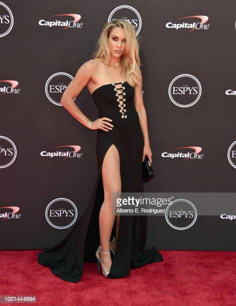 Hurdler/bob sledder Lolo Jones attends The 2018 ESPYS at Microsoft Theater on July 18 2018 in Los Angeles California