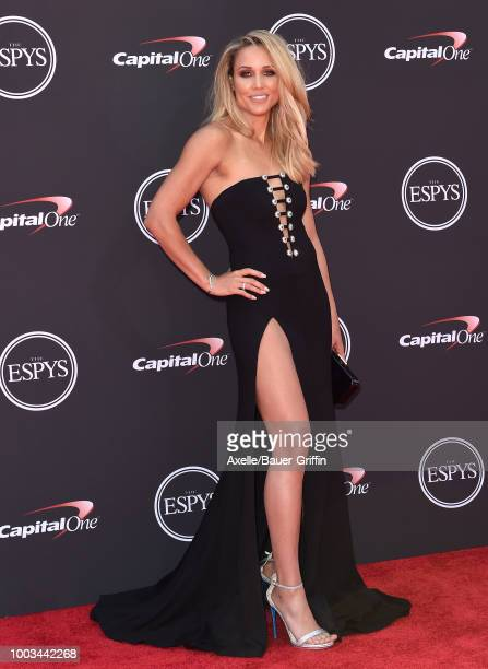 Hurdler/bobsledder Lolo Jones attends The 2018 ESPYS at Microsoft Theater on July 18 2018 in Los Angeles California