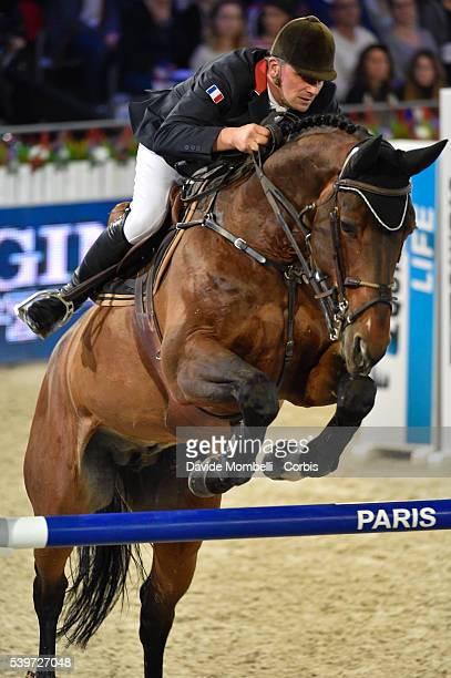 Hurel Jerome Ohm de Ponthual durin the Longines Grand Prix CSI5* Paris 2015