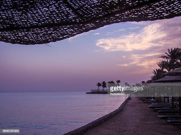 hurghada, chairs on beach - hussein52 stock photos and pictures