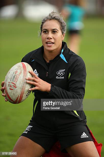 Huriana Manuel during a New Zealand Women's Sevens Rugby Training Session at King's College on July 21, 2016 in Auckland, New Zealand.