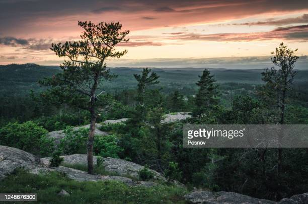 huron mountains of the upper peninsula - upper peninsula stock pictures, royalty-free photos & images