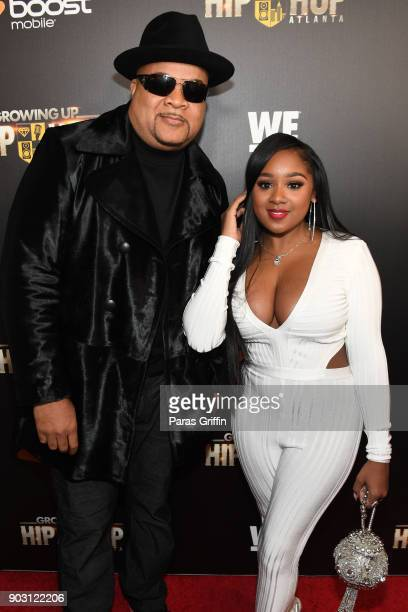 """Hurricane and Ayana Fite attends """"Growing Up Hip Hop Atlanta"""" season 2 premiere party at Woodruff Arts Center on January 9, 2018 in Atlanta, Georgia."""