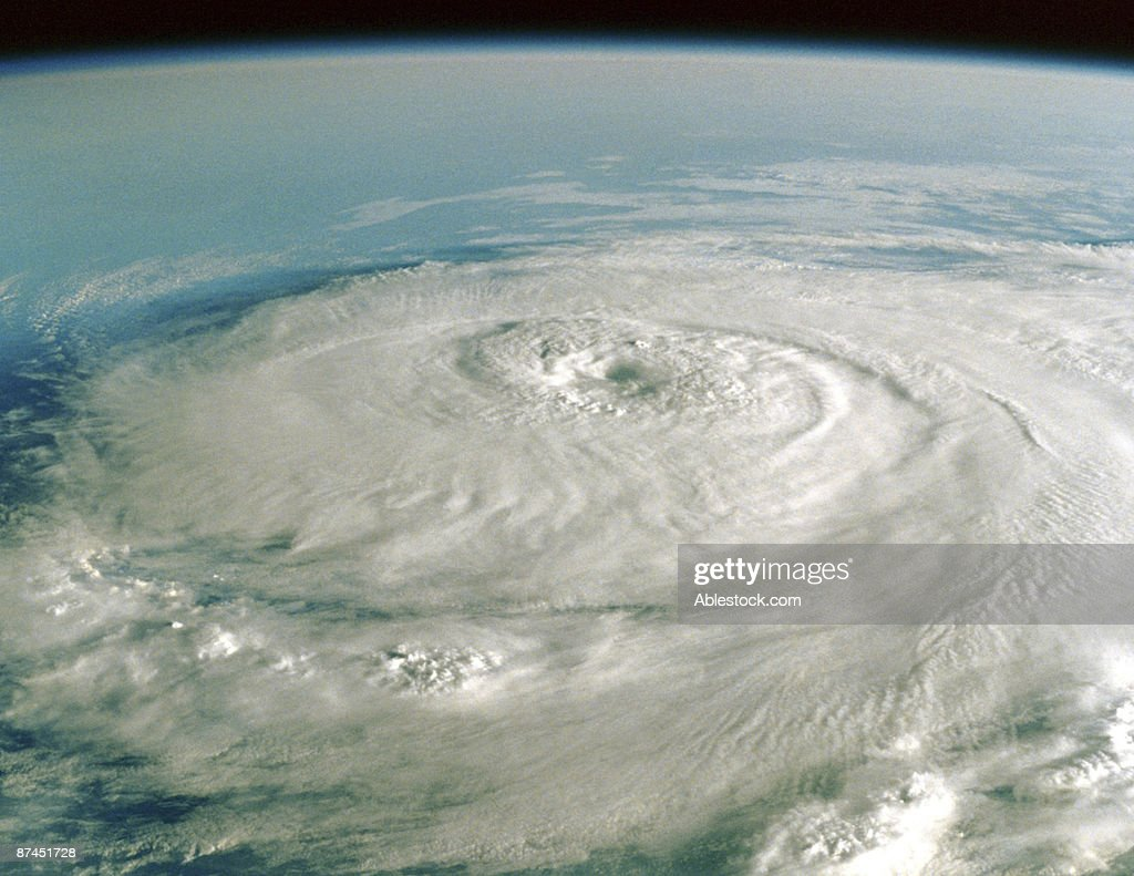 Hurricane clouds on Earth : Stock Photo