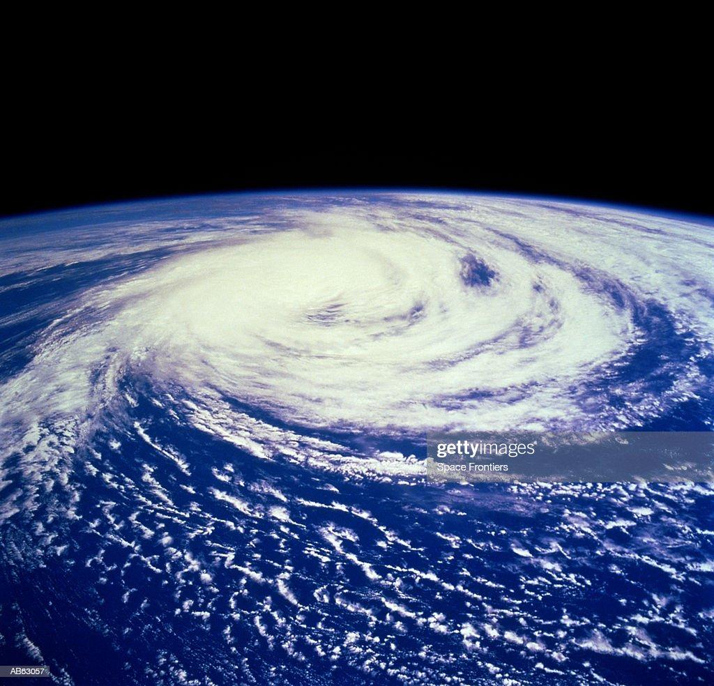 Hurricane Delfinia over Indian Ocean (Satellite image) : Photo