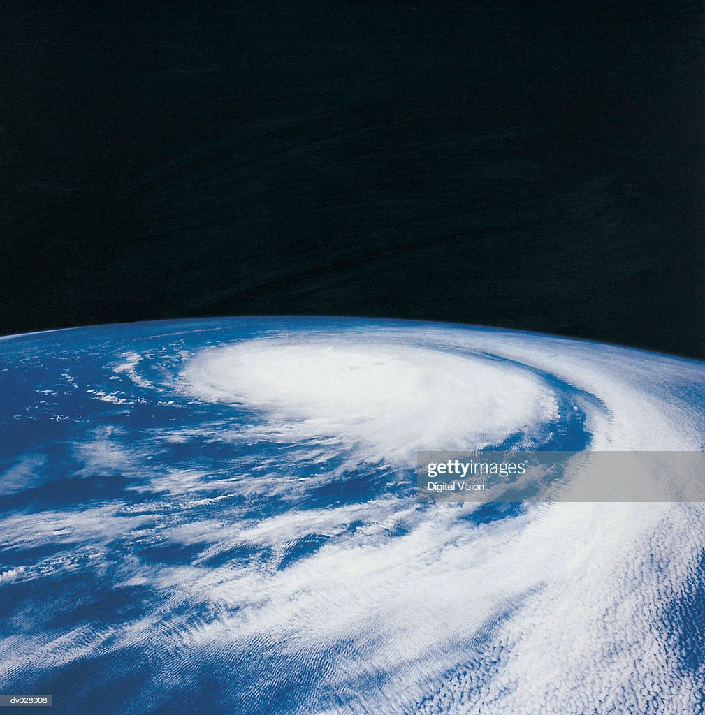 A hurricane in the Pacific Ocean : Stock Photo
