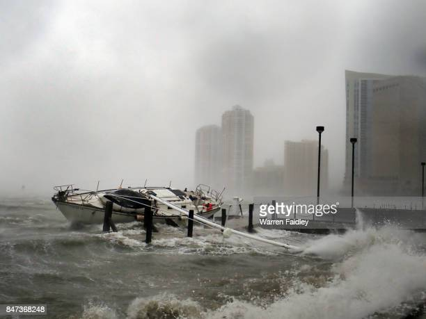 Hurricane Irma Extreme Image of Storm Striking Miami, Florida