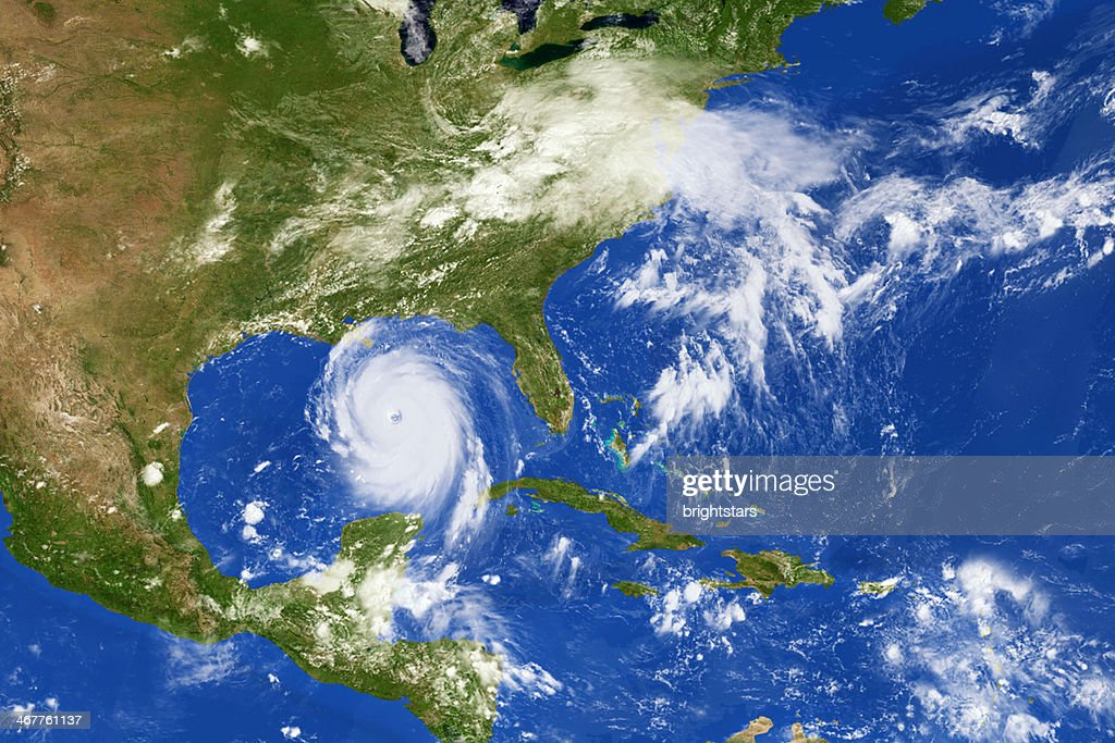 Hurricane Katrina from space : Stock Photo