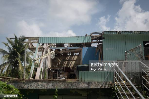 Hurricane Maria destroyed and abandoned house in the Carola neighborhood on September 19 2018 in RIO GRANDE Hurricane Maria slammed into the island...