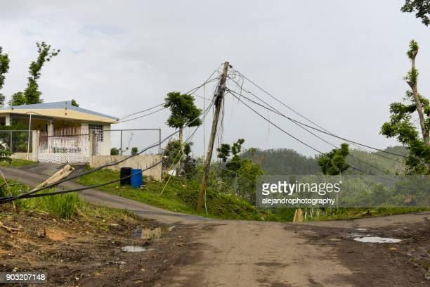 Hurricane ravaged neighborhood