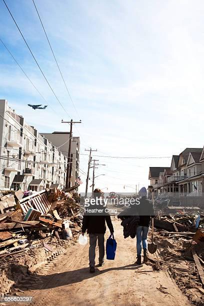 hurricane relief volunteers - heather storm stock photos and pictures