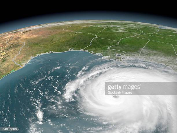Hurricane Rita on September 22, 2005. At this point Rita reaches Category 5 status with sustained winds over 165 mph.