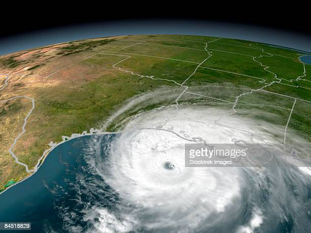 Hurricane Rita threatening the Texas and Louisiana coasts on September 23, 2005.
