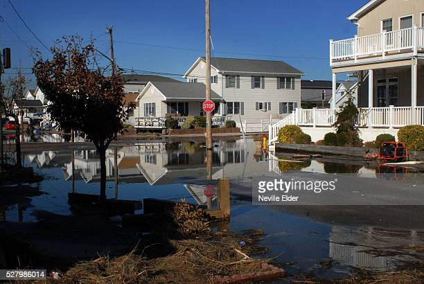 Hurricane Sandy Aftermath: Damage to homes and property in the Breezy Point section of Queens, New York.