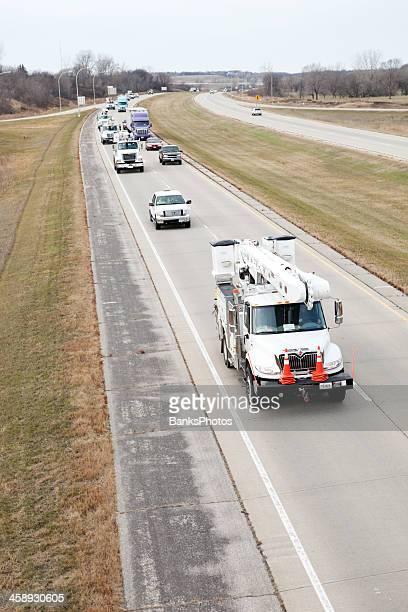Hurricane Sandy Utility Truck Relief Convoy