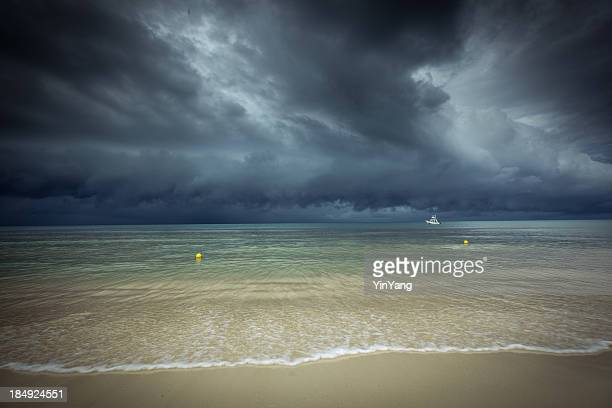 Hurricane Storm Season in Caribbean Sea