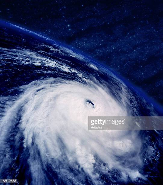hurricane, view from space - hurricane stock pictures, royalty-free photos & images