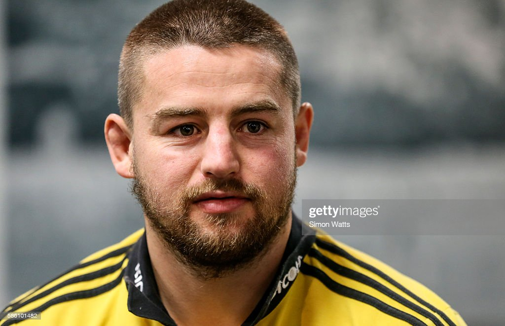 Hurricanes captain Dane Coles during the Super Rugby Final media opportunity at Westpac Stadium on August 5, 2016 in Wellington, New Zealand.