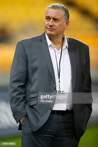 Hurricanes coach Chris Boyd before the Super Rugby Final match between the Hurricanes and the Highlanders at Westpac Stadium on July 4 2015 in...