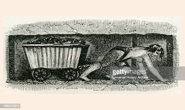 A Hurrier In A Halifax Coal Pit A Hurrier Also Called A Coal Drawer Or Coal Thruster Was A Child Or Woman Employed By A Collier To Transport The...