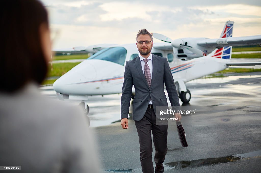 Hurrying for meeting : Stock Photo