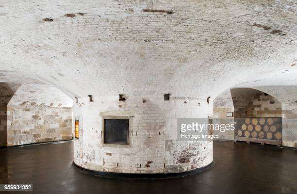 Hurst Castle Hampshire 2012 Interior of the keep showing the central brick pier Hurst Castle was a sophisticated coastal fortress built by Henry VIII...