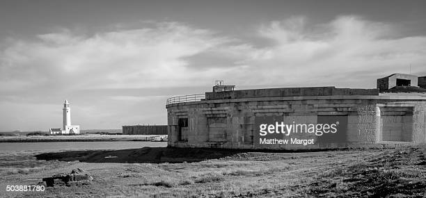 hurst castle - keyhaven stock photos and pictures
