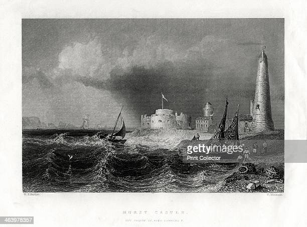 Hurst Castle, Portsmouth, 1860. Hurst Castle is one of Henry VIII's Device Forts built at the end of a long shingle spit at the west end of the...