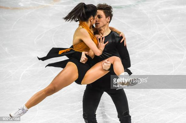 Hurtado Sara and Khaliavin Kirill of  Spain competing in free dance at Gangneung Ice Arena Gangneung South Korea on Feburary 19 2018