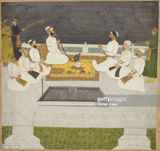Husain Ali Khan Entertaining His Brothers , circa 1712-19. The shrewd imperial oligarch smoking the hookah and his brothers ran the Mughal government...
