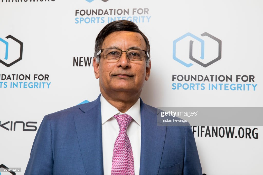 Husain Haqqani attends The Foundation For Sports Integrity (FFSI) inaugural 'Sports, Politics and Integrity Conference' at Four Seasons Hotel on May 31, 2018 in London, England.