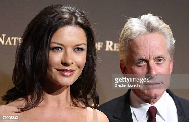 Husband and wife actors Catherine Zeta Jones and Michael Douglas attend The 2007 National Board of Review Awards Gala at Cipriani 42nd street January...