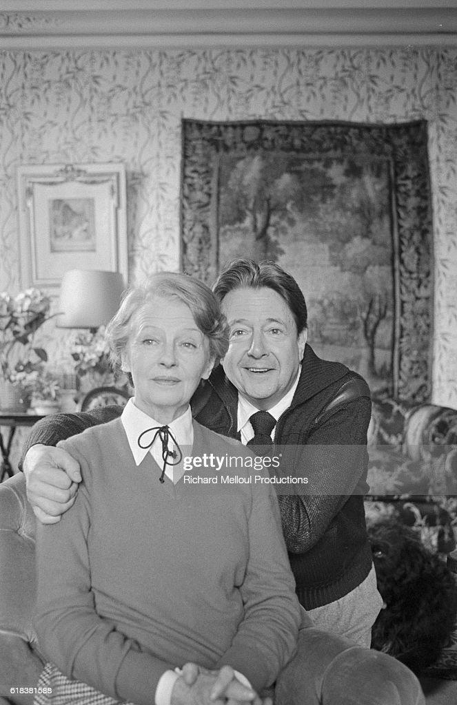 Actors Simone Valere and Jean Desailly : Photo d'actualité