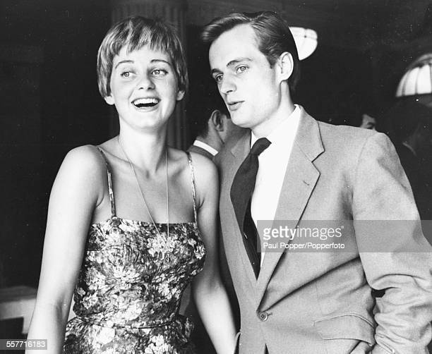 Husband and wife actors Jill Ireland and David McCallum pictured together at an event in 1958.