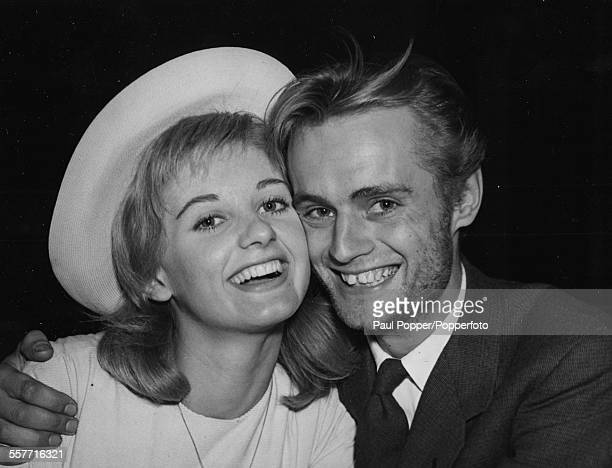 Husband and wife actors Jill Ireland and David McCallum smiling following their wedding at a registry office in London May 13th 1957