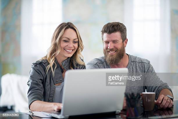 A husband and wife are working on their start up company