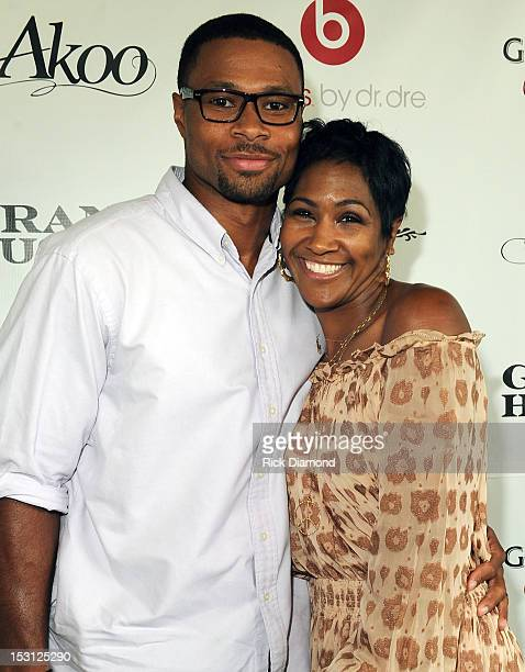 Husband and Wife Karon Riley and Actress Terri Vaughn attend AKOO's 2nd Annual 'A King Of Oneself Brunch' Hosted By TI at Ocean Prime on September 30...