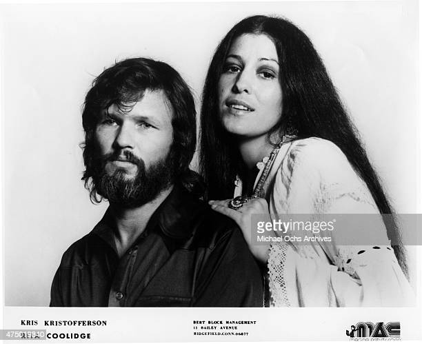 Husband and wife musicians Rita Coolidge and Kris Kristofferson pose for a portrait circa 1973
