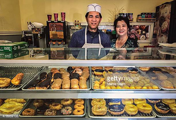 Husband and wife owners of a small bakery in California