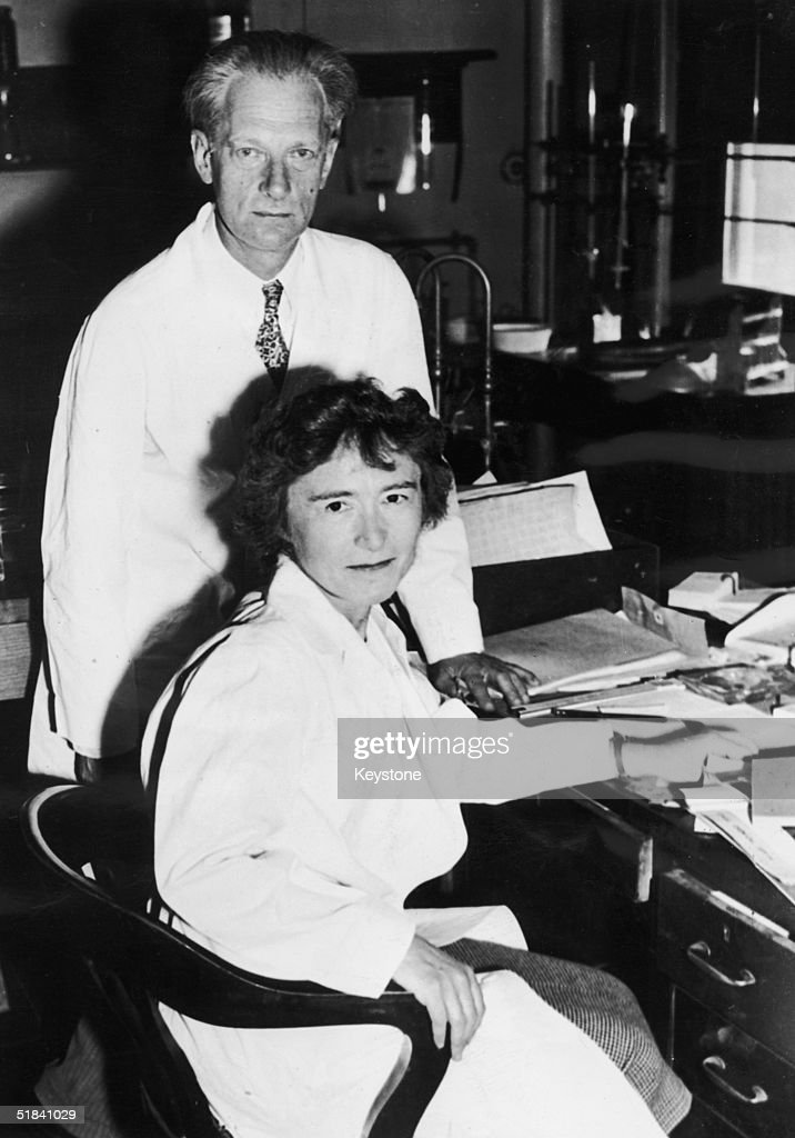 Husband and wife team Carl (1896 - 1984) and Gerty (1896 - 1957) Cori, co-winners of the 1947 Nobel Prize in Medicine for their work on the catalytic conversion of glycogen, 1947.