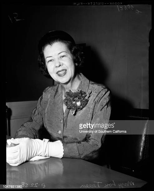 Husband asks alimony 22 August 1958 Mary Lou Treen Herbert C Pearson 51 years Supplementary material reads 'Photographer Brezina Assignment Husband...